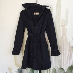 Michael Kors navy trench fall/rain